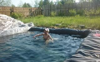 Пленка для бассейна установка своими руками