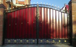 Каркас ворот из профильной трубы своими руками