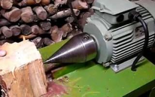 Станок для колки дров своими руками