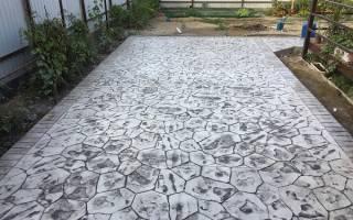 Формы для печатного бетона своими руками
