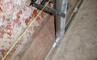 Как крепить металлопрофиль к стене