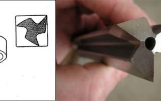 Треугольное сверло квадратное отверстие