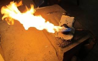 Температура газовой горелки на пропане