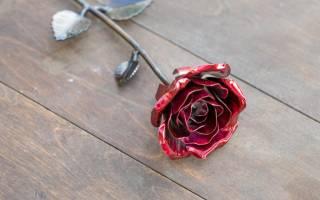 Как сделать розу из металла своими руками