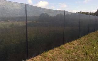 Забор из строительной сетки своими руками