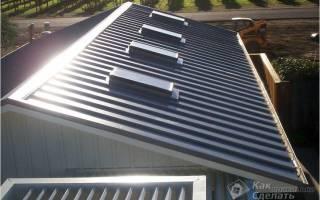 Технология укладки металлопрофиля на крышу