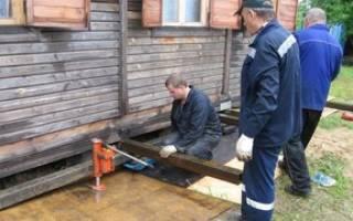 Подъем деревянного дома своими руками