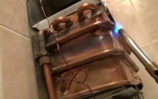 Пайка теплообменника газовой колонки своими руками
