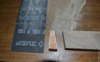 Как сделать рукоятку для ножа из дерева
