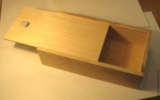 Как сделать коробку из фанеры своими руками